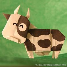Origami Cow I Love This It Always Draws Many Compliments And A Website Even Made My Its Logo