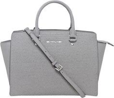 Pre-owned Grey Leather Michael Kors Selma Shoulder Bag