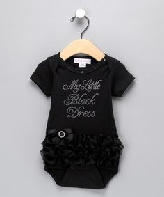 Baby girls little black dress.  If I have girls they'll need something like this.  Too cute.