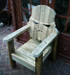 They created a series of Star Wars-inspired deck chairs that look like Stormtrooper, Darth Vader, and Boba Fett for their own personal use.