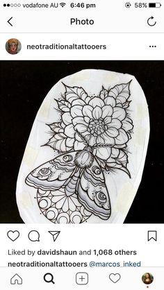 The butterfly with the lower mandala - diy tattoo project Dope Tattoos, Body Art Tattoos, New Tattoos, Tattoo Sketches, Tattoo Drawings, Diy Tattoo, Backpiece Tattoo, Tattoo Designs, Tattoo Stencils