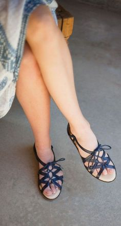 lace-up moroccan sandals