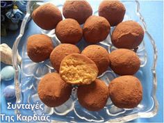 Greek Recipes, Truffles, Tiramisu, Food Processor Recipes, Cheesecake, Deserts, Muffin, Food And Drink, Cooking Recipes