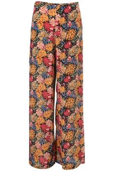 Peony Print Silk Wide Leg Trousers By Boutique - Boutique - Designers & Collections - Topshop USA - StyleSays