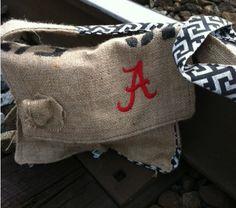 Burlap Alabama Chevron Hipster purse on Etsy, $39.95