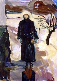 Edvard Munch - Woman by the House, 1922/24