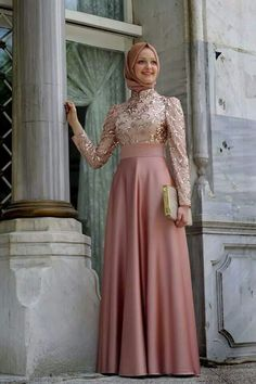 Hijab soiree dress veil islamic