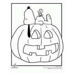 its the great pumpkin charlie brown coloring pages cartoon jr snoopy halloweenhalloween