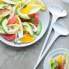 persimmon, avocado & blue cheese salad with apple cider vinaigrette ...