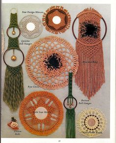 Macrame Things In Rings: Macrame Pattern Book PD-1121