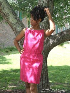 Easy Summer Sack Dress (Free Tutorial)  || LIttleKidsGrow