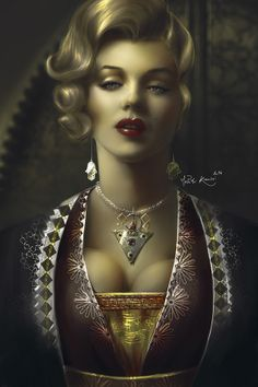 Marilyn in Morocco by Mehdi Kanissi, via Behance (digital painting) | This image first pinned to Marilyn Monroe Art board, here: http://pinterest.com/fairbanksgrafix/marilyn-monroe-art/ || #Art #MarilynMonroe