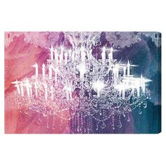 Canvas print with a chandelier motif. Made in the USA. Product: Wall artConstruction Material: Gallery-wrapped canva...