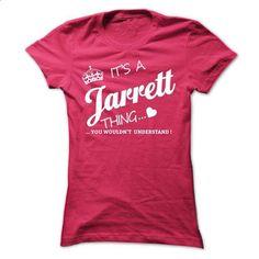 Its A JARRETT Thing - #hoodie ideas #victoria secret sweatshirt. BUY NOW => https://www.sunfrog.com/Names/Its-A-JARRETT-Thing-htbmc-Ladies.html?68278
