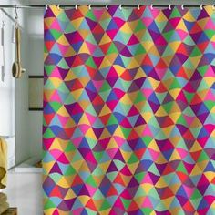 DENY Designs Home Accessories | Bianca Green In Love With Triangles Shower Curtain