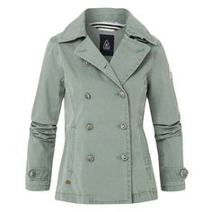 Caban Jacket Lutings - Premium-quality pea coat made of functional cotton blend fabric. Windproof, waterproof and breathable, it provides great protection in changeable weather. Perfect for creating a nautical summer look. Nautical Style, Nautical Fashion, Brand Store, Pea Coat, Polo Shirt, T Shirt, Summer Looks, Light Blue, Weather