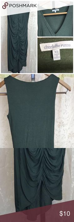 Dark olive green fitted dress (High/low) Dark olive green fitted dress in size XS /soft fabric Charlotte Russe Dresses High Low