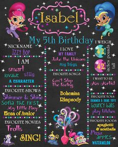 Ideas birthday board chalkboards for 2019 Birthday Board, 5th Birthday, Birthday Parties, Birthday Ideas, Birthday Decorations, Chalkboard Poster, Chalkboard Printable, Birthday Chalkboard, Shimmer N Shine