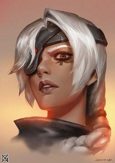 ana - More at https://pinterest.com/supergirlsart/ #overwatch #portrait #amari #fanart