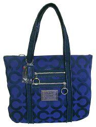 Coach Poppy Glam Tote in Cobalt