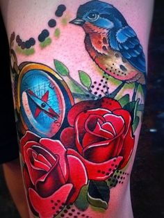 tattoo de flores na coxa - Pesquisa Google