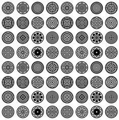 전통문양그림자료모음 : 네이버 블로그 Chinese Patterns, Japanese Patterns, Chinese Design, Japanese Design, Pattern Art, Pattern Design, Cadre Design, 3d Templates, Bijoux Design