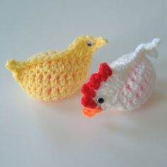 Crocheted yellow peep fits over standard plastic Easter egg. Dress up your family and friends Easter basket with this adorable egg cozy. Plastic Easter egg included.  Hand wash in cold water. Lay flat and allow to air dry.  Click here to see our other Easter egg cozies: https://www.etsy.com/listing/269104456/crocheted-white-chicken-easter-egg-cozy?ref=shop_home_active_1