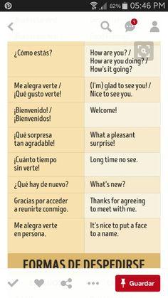 Saludos Spanish Phrases, English Phrases, Spanish Vocabulary, Spanish English, Spanish Grammar, Spanish Words, English Study, How To Speak Spanish, Spanish Lessons