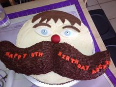 Moustache birthday cake Moustache party Pinterest Cakes