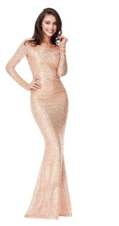 5bbb85f855ff RRP 99 QUIZ Stunning Rose Gold Sequin Fishtail Maxi Evening Dress UK 6   fashion