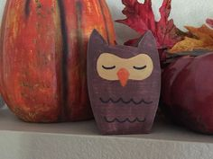 Wooden Owl, small wood owl, hand carved owl, owl decor, sleeping owl, fall decor, fall decorations, gift idea, owl decorations by PeavyPieces on Etsy https://www.etsy.com/listing/252362096/wooden-owl-small-wood-owl-hand-carved