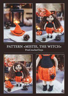 Newborn Crochet Patterns, Crochet Doll Pattern, Crochet Patterns Amigurumi, Knitting Patterns, Amigurumi Toys, Knitting Ideas, Halloween Toys, Halloween Patterns, Cute Crochet