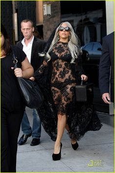 Lady Gaga-Love the lace,only the lace.