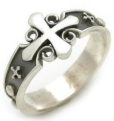 Rosary-Ring-925-Sterling-Silver-Christian-Ring-Antique-Style-RA113