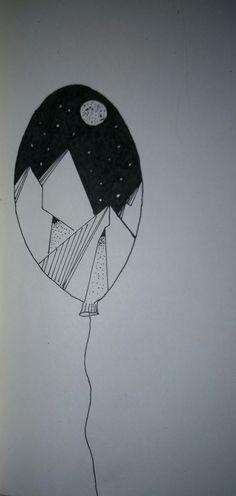 Mountains in a balloon