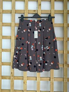 Skirts For Sale, Box Pleats, White Skirts, Women Brands, Polka Dots, Size 10, Brand New, Brown, Pattern