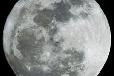Feb 14, 2014. The International Space Station flies in front of a full moon as seen from Salgotarjan, 109 kms northeast of Budapest, Hungary.