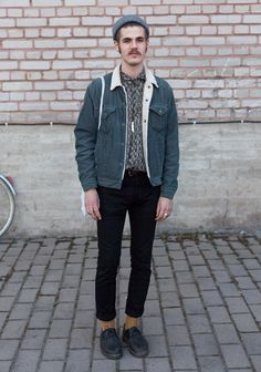 "Darius, 22  ""I shop either vintage or at Cos. Hedi Slimane has a good style."" 7 May 2013, Cable Factory"