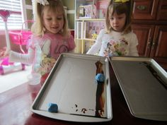 Make your ramp sticky or slippery to see how it affects the movement of an object in this science experiment.