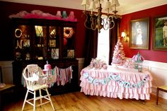 shabby chic, cute as a button first birthday party