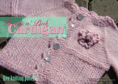 Free Knitting Pattern - Pretty in Pink Cardigan