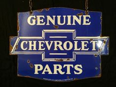 Genuine chevrolet parts 2 sided porcelain sign 24x 18 a reproduction porcelain enamel chevrolet parts sign being passed off as original from india for the sciox Image collections