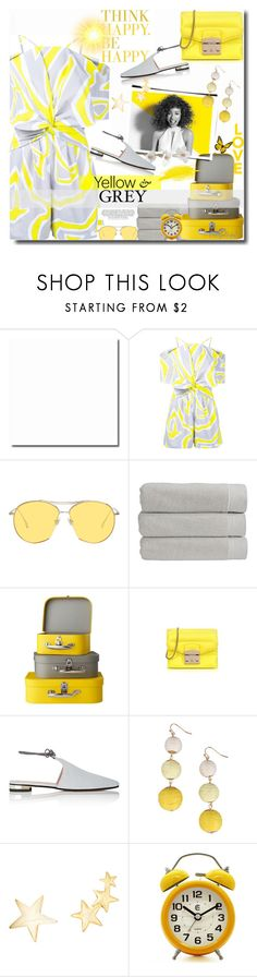"""Emilio Pucci in Yellow & Grey!"" by prettynposh2 ❤ liked on Polyvore featuring Emilio Pucci, Gentle Monster, Paul Mitchell, Christy, Furla, Barneys New York, Armitage Avenue, Kenneth Jay Lane and yellow"