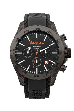SuperDry Men s Adventurer Multifunction with black rubber strap. f0c197e6a87