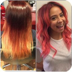 Color correction? No problem. Here's one done by R7S Chicago colorist, MARIELLA, on one of our fabulous assistants, Ryane 💁🏻🍧 To schedule a color appointment w/Mariella, please call 312-644-7337 or email us info@red7salon.com