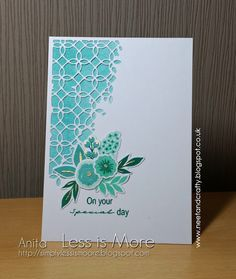 Image result for cards made with sizzix thinlits dies