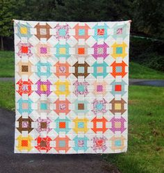 Fall Churn Dash Quilt, Cluck Cluck Sew need to make this out of the Sweetwater Road 15 Fabric! Boy Quilts, Scrappy Quilts, Quilting Tutorials, Quilting Designs, Quilting Projects, Churn Dash Quilt, Cluck Cluck Sew, Charm Pack Quilts, Quilt Of Valor