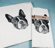 Whippet  Gift Dog Tea Towel, BN Whippet White Cotton Tea Towel