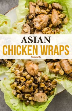 Our Asian chicken wraps are made with crispy chicken, fresh cabbage or lettuce, and the tangy flavor you've come to expect from Asian fare. Clean Eating Recipes, Clean Eating Snacks, Lunch Recipes, Healthy Eating, Cooking Recipes, Meal Recipes, Recipies, Asian Chicken Wraps, Crispy Chicken