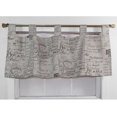 French Script Fossil CottonTab Valance   Overstock.com Shopping - The Best Deals on Valances
